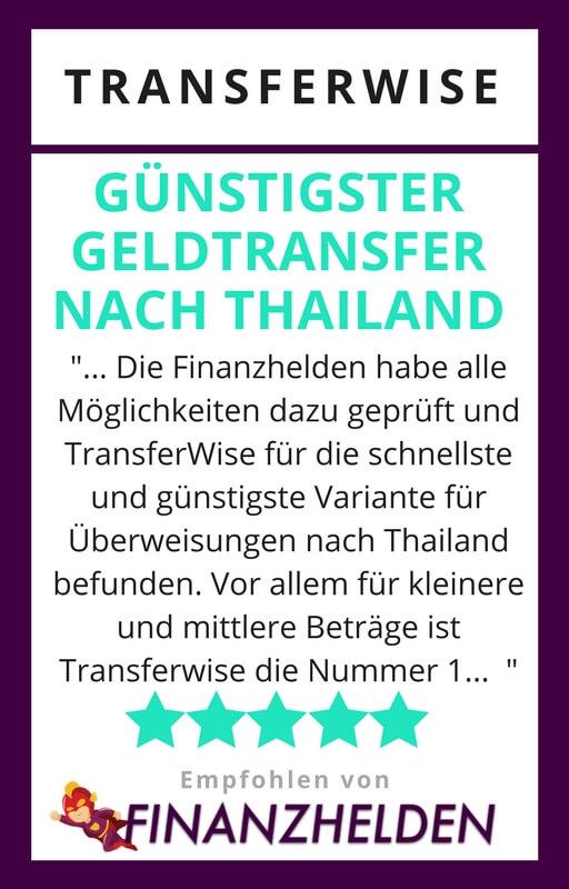 TransferWise - Geld nach Thailand überweisen - Testsiegel Finanzhelden.org