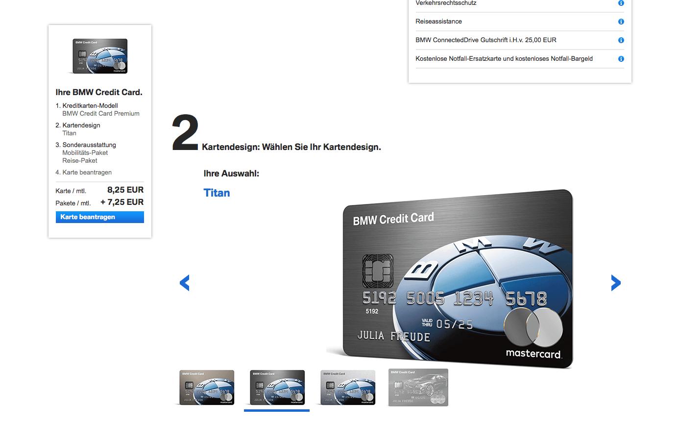 BMW Kreditkarte beantragen