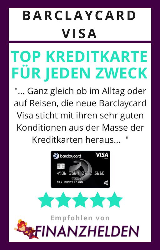 Testsiegel Finanzhelden.org - Barclaycard Visa