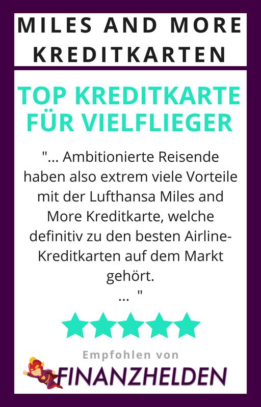 Testsiegel Finanzhelden.org - Lufthansa Miles and More Kreditkarten